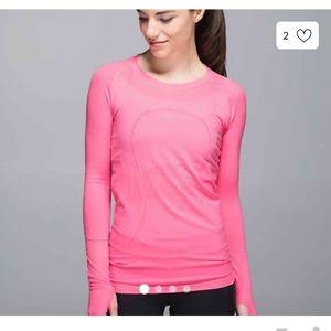 Lululemon Swiftly Tech Long Sleeve Tee Pink Size 2